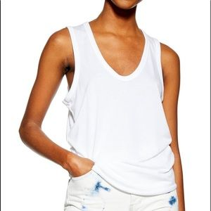 TopShop White u-neck tank top